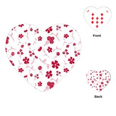 Sweet Shiny Floral Red Playing Cards (heart)