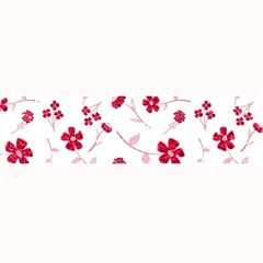 Sweet Shiny Floral Red Large Bar Mats