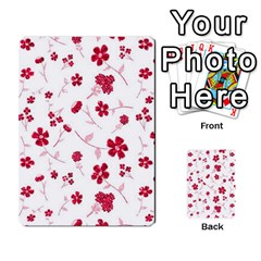 Sweet Shiny Floral Red Multi-purpose Cards (Rectangle)