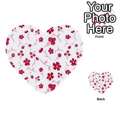 Sweet Shiny Floral Red Multi-purpose Cards (Heart)