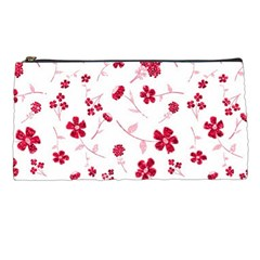 Sweet Shiny Floral Red Pencil Cases