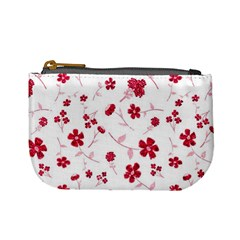 Sweet Shiny Floral Red Mini Coin Purses