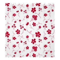 Sweet Shiny Floral Red Shower Curtain 66  x 72  (Large)