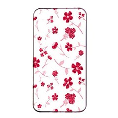 Sweet Shiny Floral Red Apple iPhone 4/4s Seamless Case (Black)