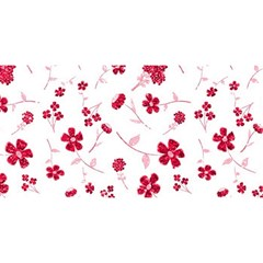 Sweet Shiny Floral Red YOU ARE INVITED 3D Greeting Card (8x4)