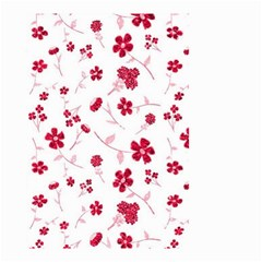 Sweet Shiny Floral Red Small Garden Flag (Two Sides)