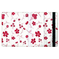 Sweet Shiny Floral Red Apple Ipad 3/4 Flip Case