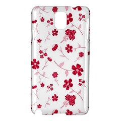 Sweet Shiny Floral Red Samsung Galaxy Note 3 N9005 Hardshell Case