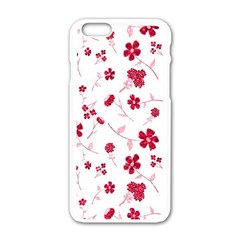 Sweet Shiny Floral Red Apple Iphone 6 White Enamel Case