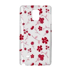 Sweet Shiny Floral Red Samsung Galaxy Note 4 Hardshell Case