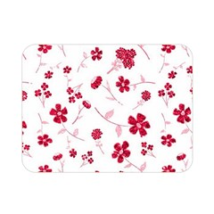 Sweet Shiny Floral Red Double Sided Flano Blanket (mini)