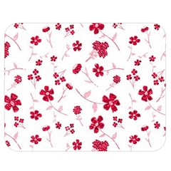 Sweet Shiny Floral Red Double Sided Flano Blanket (Medium)