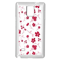 Sweet Shiny Floral Red Samsung Galaxy Note 4 Case (white)