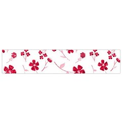 Sweet Shiny Floral Red Flano Scarf (small)