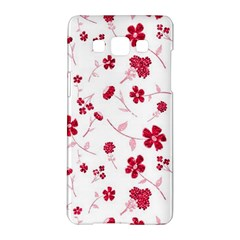 Sweet Shiny Floral Red Samsung Galaxy A5 Hardshell Case