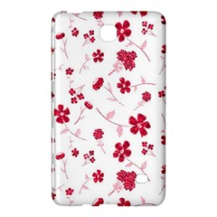 Sweet Shiny Floral Red Samsung Galaxy Tab 4 (7 ) Hardshell Case