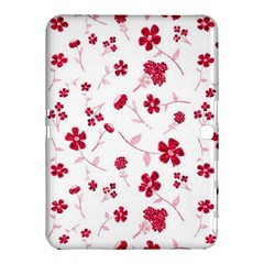 Sweet Shiny Floral Red Samsung Galaxy Tab 4 (10.1 ) Hardshell Case