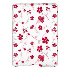 Sweet Shiny Floral Red Samsung Galaxy Tab S (10.5 ) Hardshell Case