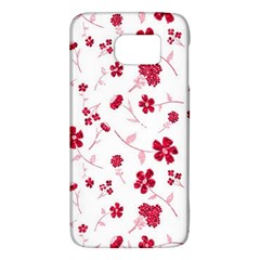 Sweet Shiny Floral Red Galaxy S6