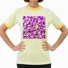 Heart 2014 0928 Women s Fitted Ringer T Shirts
