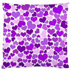 Heart 2014 0928 Large Flano Cushion Cases (one Side)