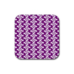 Candy Illustration Pattern Rubber Coaster (square)