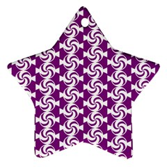 Candy Illustration Pattern Star Ornament (two Sides)