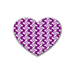 Candy Illustration Pattern Heart Coaster (4 Pack)