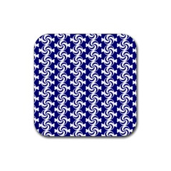 Candy Illustration Pattern Rubber Square Coaster (4 Pack)
