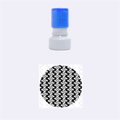 Candy Illustration Pattern Rubber Round Stamps (Small)