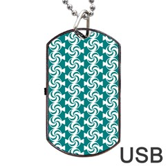 Cute Candy Illustration Pattern For Kids And Kids At Heart Dog Tag USB Flash (One Side)