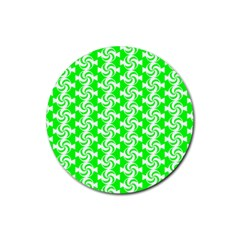 Candy Illustration Pattern Rubber Coaster (round)