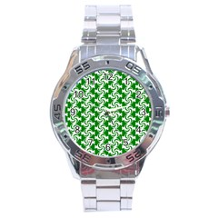 Candy Illustration Pattern Stainless Steel Men s Watch