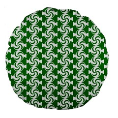 Candy Illustration Pattern Large 18  Premium Flano Round Cushions