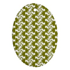 Candy Illustration Pattern Oval Ornament (two Sides)