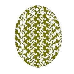 Candy Illustration Pattern Oval Filigree Ornament (2-Side)