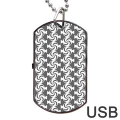 Candy Illustration Pattern Dog Tag USB Flash (Two Sides)