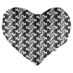 Candy Illustration Pattern Large 19  Premium Flano Heart Shape Cushions