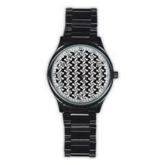Candy Illustration Pattern Stainless Steel Round Watches
