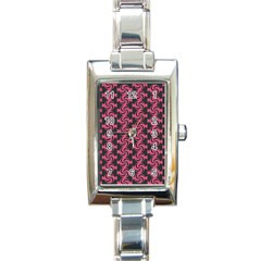Candy Illustration Pattern Rectangle Italian Charm Watches