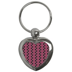 Candy Illustration Pattern Key Chains (heart)