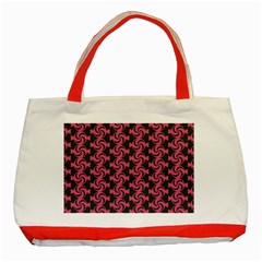 Candy Illustration Pattern Classic Tote Bag (red)