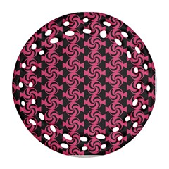 Candy Illustration Pattern Round Filigree Ornament (2side)