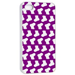 Cute Baby Socks Illustration Pattern Apple Iphone 4/4s Seamless Case (white)