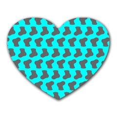 Cute Baby Socks Illustration Pattern Heart Mousepads