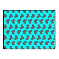 Cute Baby Socks Illustration Pattern Double Sided Fleece Blanket (Small)