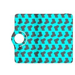 Cute Baby Socks Illustration Pattern Kindle Fire Hdx 8 9  Flip 360 Case