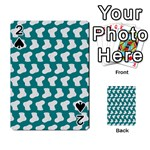 Cute Baby Socks Illustration Pattern Playing Cards 54 Designs  Front - Spade2