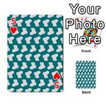 Cute Baby Socks Illustration Pattern Playing Cards 54 Designs  Front - Heart5