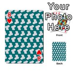 Cute Baby Socks Illustration Pattern Playing Cards 54 Designs  Front - Heart8